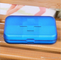 Wholesale Portable Eco friendly Cells Pill Box Travel medicine pills Storage Case Refillable box
