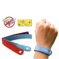 Cheap 5pcs Anti Mosquito Bug Repellent Wrist Band Bracelet Insect Nets Bug Lock Camping #26822