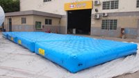 aqua parks - Customized size mmpvc tarpaulin inflatable floating mattress water bed for aqua park