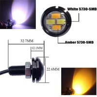 Wholesale 23mm External Lights Source New Car Styling LED DRL Eagle Eye Daytime Runing Warning Fog Light Turning Signal