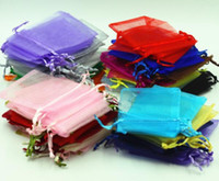 baby shower candy bags - New Arrive x9cm Wedding Decorations Baby Shower Organza Bags Jewelry Gifts Party Favor Candy Birthday Supplies Packaging Goodie