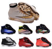 basketball league - Men Mercurial Superfly CR7 FG Soccer Cleats Magista Obra Soccer Shoes Outdoor Champions League Football Boots Hypervenom II Cleats