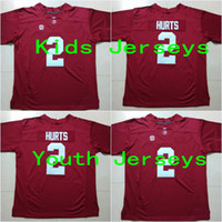 alabama youth - Kids Jalen Hurts Youth Alabama Crimson Tide College Football Jerseys New Style Cheap Stitched Jersey Embroidery logos