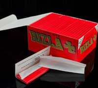 Cheap 40boxes lot RIZLA 100mm Cigarette Rolling Papers Smoking Papers King Size Unbleached Orange Pure Flax Papers 50 Booklets box