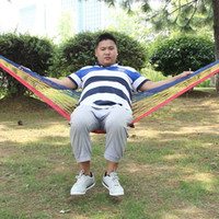 Wholesale New Cotton rope swing hammock hammock single outdoor leisure hammock manufacturers selling small trade explosion