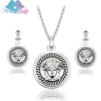 beauty gifts for girls - 2016 New Arrival Wedding Jewelry Sets for Brides beauty head necklaces wedding bridal for Women Necklace Earrings Sets MLXS2040