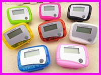 big plastic pockets - Pocket LCD Pedometer Mini Single Function Pedometer Running Step Counter LCD Digital Walking LCD Counter With Package