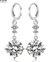 Wholesale chaing stone diamond lover heart lady s earings cm