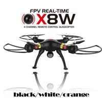 Wholesale SGLEDs SYMA x8w FPV RC Drone Axis Professional Quadcopter With MP WiFi Camera RC Helicopter With Battery