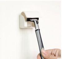 Wholesale 1pc Men s Razor Shaver Plastic Razor Rack Sucked Suction Cup Holder Hanger Holder Bathroom Tools