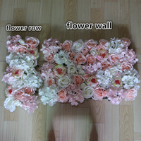 Wholesale NEW Artificial silk rose Pink peony core flower wall wedding background lawn pillar road lead market decoration