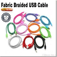cell phone cord - 1M Nylon Braided Micro USB Cable Charger Data Sync USB Cable Cord For Samsung Galaxy Cell phones Colors Available