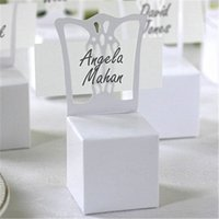 bamboo place card holders - 2016 New Chair Place Card Holder and Favor Box best for candy boxes wedding favors and gift box party supplies