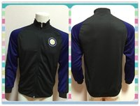 active thailand - New Product Thailand Inter Milan Black Jacket clothes out tracksuit coat Football Suit Training Shirt soccer Jersey Jacket