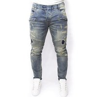american lighting products - Hot Sale tidezipper pants Slim stretch More style mens balmain jeans product biker jeans for men famous brand designer balmaied jeans men
