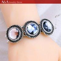 Wholesale Vintage Bracelets Black Crystal Bangles Bracelets For Party Good Gift Bracelets Hot sale Brand A A Jewelry