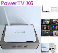 Wholesale PowerTV X6 best lifelong permanent free IPTV channels IPTV set top boxes of Arabic Android live television channels TV box