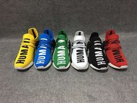 art human - 2016 new Mens and Womens Pharrell Williams NMD HUMAN RACE shoes In Black White Yellow Green Blue White and Grey buy cheap and