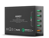 Wholesale For The head of the new AUKEY fast charging port charge lightning charger V W Apple Samsung millet