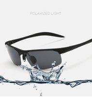 Wholesale Sunglasses outdoor glasses imitation aluminum magnesium polarized sunglasses riding glasses men sunglasses outdoor leisure sports