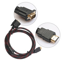 Wholesale High Quality m ft HDMI To VGA Cable Male to Male Video Adapter For HDTV HD Player HDMI Adapter Cable