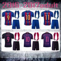 Wholesale DHL Mixed buy Real Madrid Barcelona kit socks home away Soccer jerseys MESSI ARDA A INIESTA SUAREZ SERGIO PIQUE I RAKITIC NEYMAR