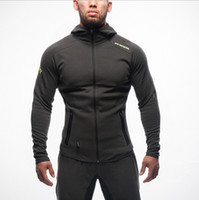 Wholesale Slim Muscle Men - 2016 Muscle Brothers Mens Sport Jacket Fitness Running Fashion Brand Sweatshirt Men Gym Clothing Hoody Jackets High Quality