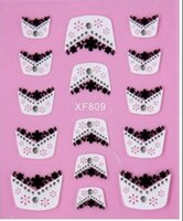 Wholesale The sale of the latest fashion simple nail stickers French Nail Sticker style DHL free postage transport