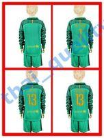 barcelona goalkeeper - Youth Kids Soccer Jersey Barcelona TER STEGEN Cillesse C BRAVO Goalkeeper Long Sleeve Uniforms Kit