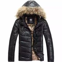 Wholesale New Winter Jacket Men Warm Down Jacket Hooded Casual Parka Men Padded Jacket With Fur Collar