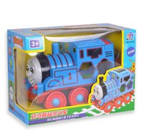 Wholesale Hot new electronic toys music light Diecast plastic Magnetic Train Toy model Toy Loose In Stock HT372