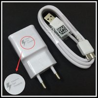 Wholesale 100 Fast Charging EU Plug Travel Wall Charger Micro Usb Cable For Samsung Galaxy Note III S5 SIV I9600 wall charger cable