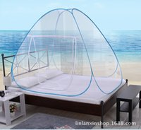 Cheap Summer Mosquito Net for Bed Portable Storage Dome Bed Curtain Mongolian Yurt Mosquito Net Double Door Zipper Bed Canopy