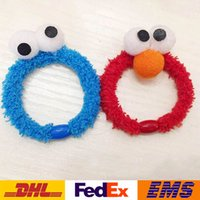 adult baby stuff - New Seam Street Elmo Hairbands Children Kids Baby Adult Cosplay Cartoon Plush Stuffed Hair Rings Dress Up Toys XMAS Gifts WX H01