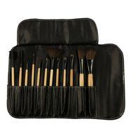 La pluma de madera del maquillaje del color del sistema de cepillo del maquillaje de la profesión 12pcs nueva fija las herramientas de la belleza Deje la alta calidad hermosa del cambio de la mariposa hermosa