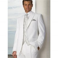 Wholesale Pretty Fashion Man Suits Peaked Lapel Two Button Groomsman Tuxedos Men Wedding Suits