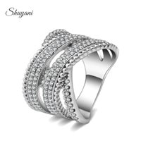 austrian crystal costume jewelry - Jewelry Genuine Austrian Rings Crystal Rings Alloy Platinum Plated Ring Costume Women Jewelry for Wedding Dairy Life SHUYANI