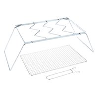 bbq grill equipment - Barbecue Grill Net Outdoor Portable Folding Stainless Steel Detachable Camp Travel Yard Party BBQ Grill Wire Mesh Equipment Tool