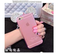 al por mayor auriculares de diamantes-Diamante del brillo de Mickey Minnie Mouse Ears del teléfono móvil para Samaung A310 A510 A710 J310 J510 J710 J120 J210 J1mini G530Luxury Bling Claro