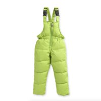 baby ski pants - Children Boys Winter Jumpsuit Down Overalls For Girls Years Kids Ski Suit Toddler Baby Girl Pants Infant Clothing