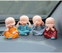 automotive art - 4pcs small decoration Resin Crafts Ornament figurine effort four Monk Buddha Automotive Decoration lovely Ornament