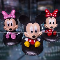 accessories car games - Car Accessories Decoration Cartoon Bobblehead Mickey Minne Children Toy figurine Zootopia Judy Nick Comic Game Doll Kids Christmas Toys Gift