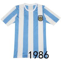 argentina soccer team messi - Retro Version World Cup Argentina national team home jersey Messi Maradona soccer jersey Thai edition jersey
