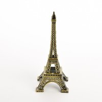 alloy metal sculptures - 18CM Eiffel Tower Statue Sculpture Paris Decor Metal Wedding Supplies Ornament Meaningful birthday gift