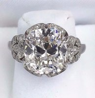 antique natural rings - 5 Carats t w Antique Wedding Diamond Ring Carats H VVS1 GIA Certificate
