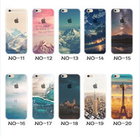 Wholesale For Apple iphone S plus iphone plus SE silicone case landscape Plating TPU cell phone cases Elizabeth Tower Big Ben Eiffel