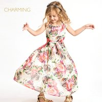 best beaches china - Brand new beach dress Designer children s clothing Quality printing round neck sleeveless dress Best suppliers from china