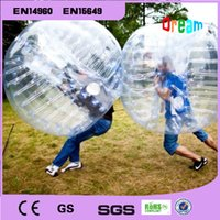 Wholesale m mm Inflatable clear human hamster ball soccer bubble ball bumper ballzorb ball for football