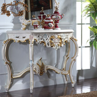 antique console - antique hand carved wood furniture soild wood gold foil leaf gilding console table