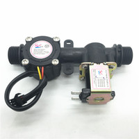 Wholesale G1 Water Flow Sensor Solenoid Valve Plastic One Valve L Min